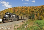 NS 3331 Hauls empties through the small community of Armstong Mills, Ohio