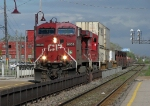CP 8638 heads out of the yard