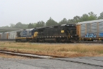 NS NB reroute being shoved back onto CSX main passed the local CSX power