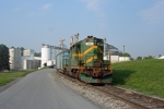 BDRV 1850 is tied down for the weekend at the ConAgra Plant