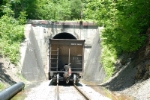 the tail end of E155 as it heads into the mile long tunnel and onto Loyall