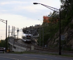 NJ Transit LRV on the viaduct