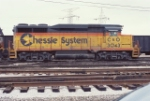 C&O 3043 sits stored at Barr Yard in 1985