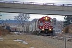 T006 returning to the Waukesha Sub main after working the industrial park
