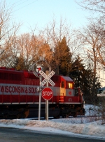 WSOR 4076 passing the wigwag