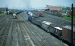 N&W Y-6b 2-8-8-2 entering yard westbound