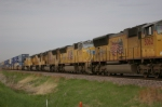 UP 5096 Is #2 On A WB Container Train