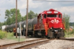 RJC 4119 heads south to New Phily on the old CL&W