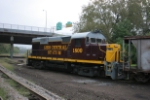 OHCR 1800 with ballast train in the old B&O yard