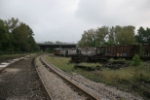 looking north, railroad east, out of B&O yard