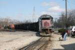 OHCR 8801 reverses direction to cross the Muskingum on the B&O bridge
