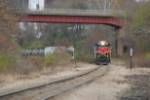 OHCR 4094 pulls away from its train east of the yard