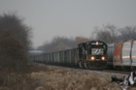 NS 6687 passes stored covered hoppers