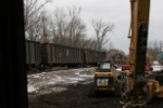 OHCR 4027 shoving a coal train to Conesville