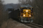 OHCR 4026 leads a southbound empty train away from Conesville