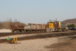OHCR 4028 and OHCR 4602, ex CSX Rice yard hump unit, in Newark yard