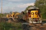 another Oxford Mining Cat loads coal on the OC