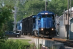 OHCR 4095 with the local out of Zanesville returning with empty trash cars from Rehoboth
