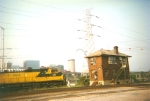 CNW 8622 passing Gratiot St. Tower