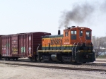 BNSF 3419 Puffs as She Works the BNSF Yard