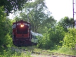 BSVY 1003 Rounds the Bend with its Small Train of Passengers