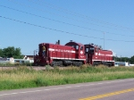 Both E&E Switchers Return to the Shops After a Busy Day of Switching Freight Cars