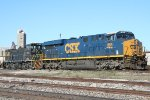 CSX 885 and Terminal Switcher 803 and the State Docks scale track