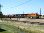 BNSF 7633 and NS 9765