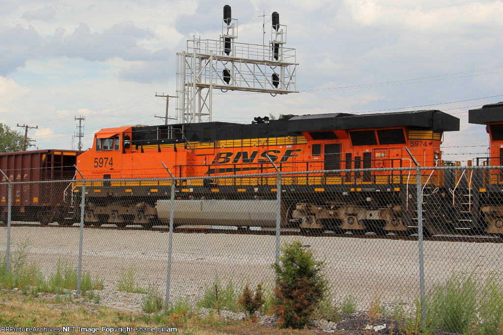 BNSF 5974 is 2nd out on this tac train.