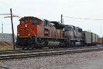 BNSF 9211 leads a Nb Empty coal train past The bnsf crew change point.