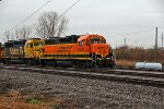 BNSF 2029 sits tied down In North Saint Louis.
