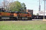 BNSF 7558 is the lead unit of the MADGAL FREIGHT,