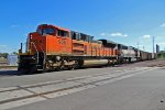 BNSF 9261 lead a coal train to the ns.