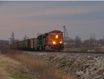BNSF 4927 heads up a sd60m