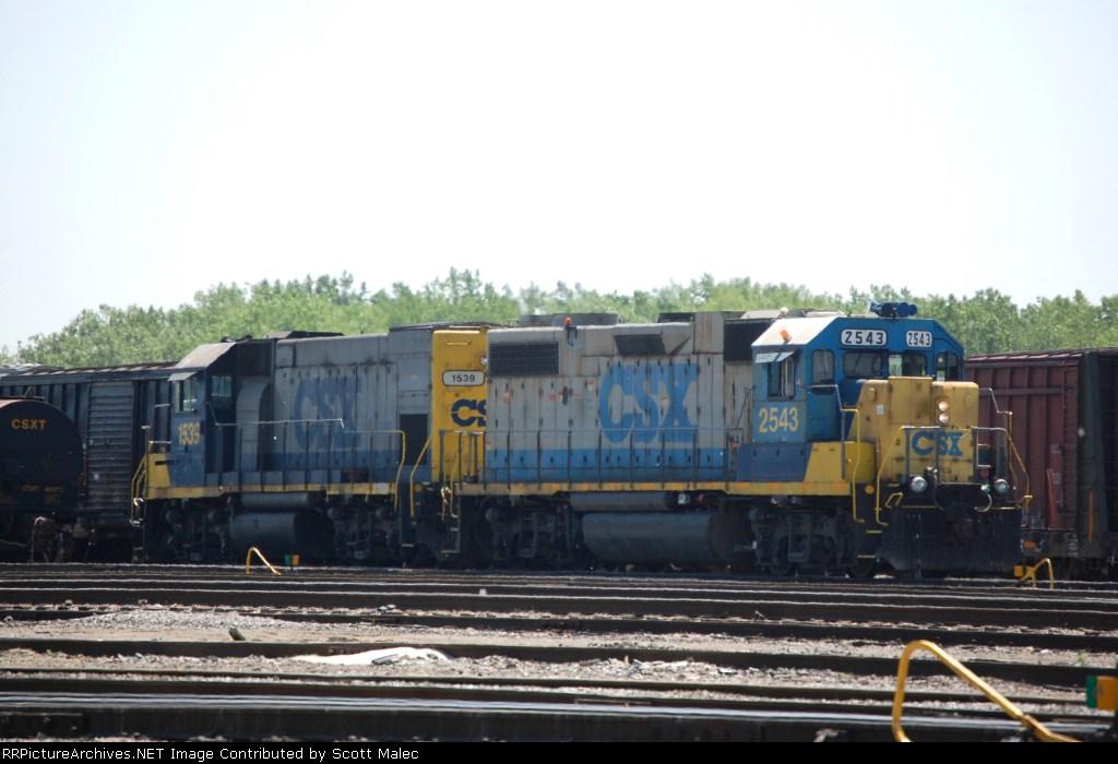 CSX 2543 & 1539
