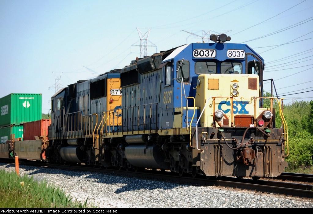 CSX 8037 & 8710