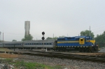 HOG 1540 leads the excursion special across the NS and CSX diamond