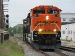 BNSF 9199 leads D802-03 eastward