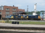 CSX 1300 sits among veteran units around the shop