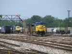 After cutting away from Q326-08, CSX 535 & 5423 prepare to back into the middle yard