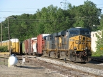Three ES44DC's lead S335-19 into the Plaster Creek plant