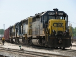 CSX 8430 leads 3 more SD40-2's as Q326-20 heads down the Old Even