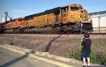 BNSF 9921 & Railfan