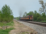 Receding MILW 261 and train