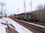 BN SD40-2 and CN Barn