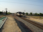 CDTX #2052 brings Amtrak Train #711 into Modesto
