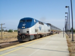 Amtrak P42DC #49 pauses in Modesto to cool her heals