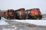 CN 5282, 5243 and company ready for scrap or rebuild.