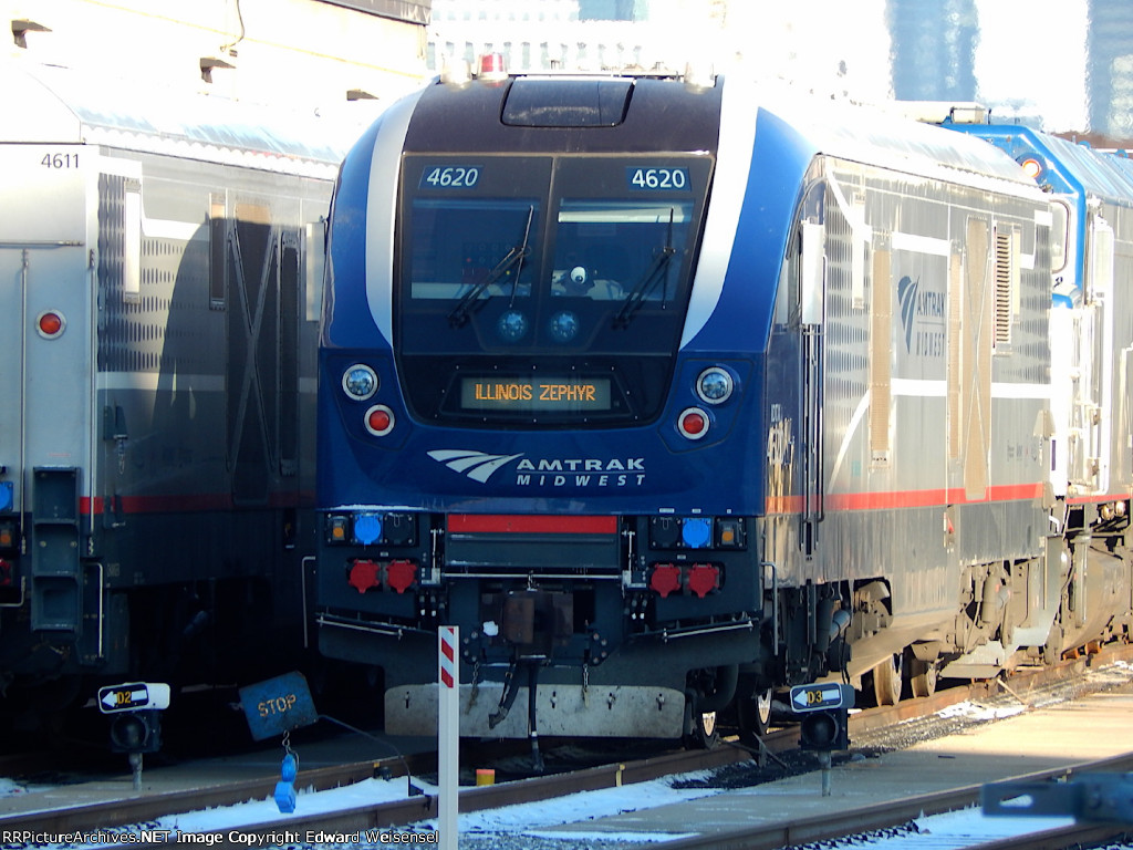 Illinois Zephyr 380 will depart in less than 2 hours