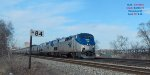Empire Builder hustles south over 90 minutes late #8 Tuesday @ mp 84